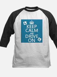 Keep Calm and Drive On Baseball Jersey