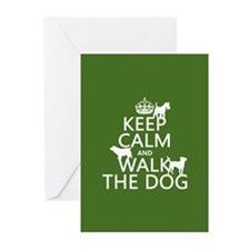 Keep Calm and Walk The Dog Greeting Cards (Pk of 1