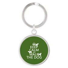 Keep Calm and Walk The Dog Keychains