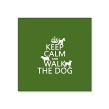 Keep Calm and Walk The Dog Sticker
