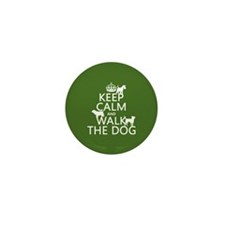 Keep Calm and Walk The Dog Mini Button (10 pack)