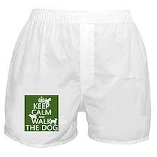 Keep Calm and Walk The Dog Boxer Shorts