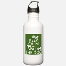 Keep Calm and Walk The Dog Sports Water Bottle