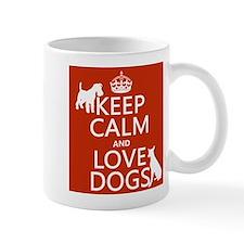 Keep Calm and Love Dogs Small Mug