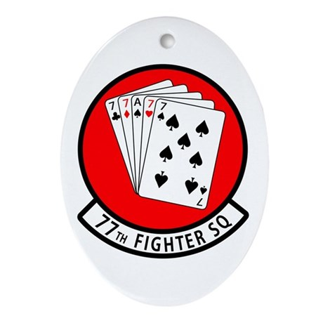 77th Fighter Squadron Oval Ornament