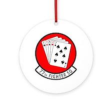 77th Fighter Squadron Ornament (Round)