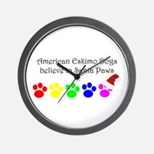 American Eskimo Dogs Believe Wall Clock