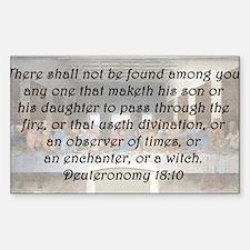 Deuteronomy 18:10 Decal