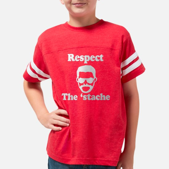 Respect the stache 2 Youth Football Shirt
