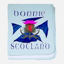 Bonnie Scotland flag design baby blanket