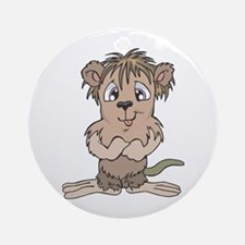 Cute Little Mole Ornament (Round)