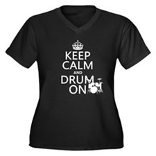 Keep Calm and Drum ... Plus Size T-Shirt