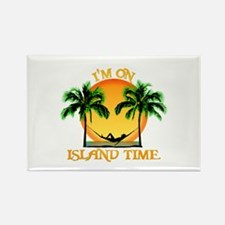 Island Time Rectangle Magnet