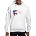 SKULL&CAKE AMERICAN FLAG CROSSBONES Hooded Sweatsh