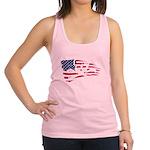 SKULL&CAKE AMERICAN FLAG CROSSBONES Racerback Tank