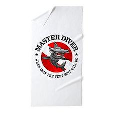Master Diver (Hammerhead) Beach Towel