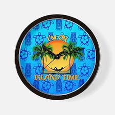 Island Time Tiki Wall Clock