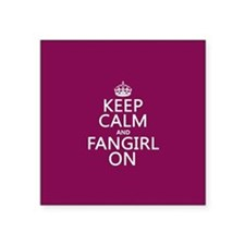 Keep Calm and Fangirl On Sticker