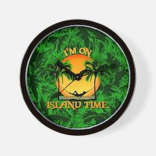 Island Time Palm Trees Wall Clock