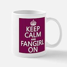 Keep Calm and Fangirl On Small Mug
