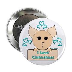 I Love Chihuahuas Cartoon (Blue) 2.25
