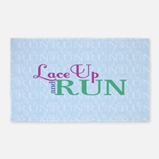 Lace Up and Run 3'x5' Area Rug