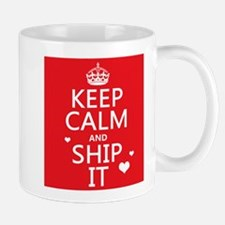 Keep Calm and Ship It (fandom) Small Mug