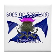 Sons of Scotland Freedom flag design Tile Coaster