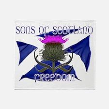 Sons of Scotland Freedom flag design Throw Blanket