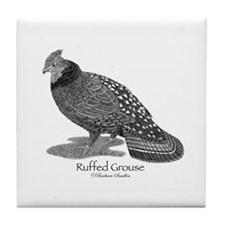 Ruffed Grouse Tile Coaster