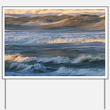 Surf Wave Motion Yard Sign