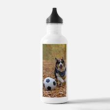 Corgi Playing Soccer Water Bottle