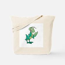 Grasshopper Eating Leaf Tote Bag