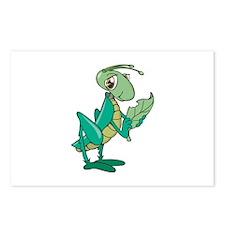 Grasshopper Eating Leaf Postcards (Package of 8)