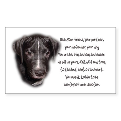 He is Your Dog Rectangle Sticker
