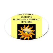 quilting Oval Car Magnet