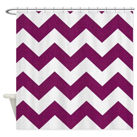 Plum Purple Chevron Shower Curtain By Chevroncitystripes
