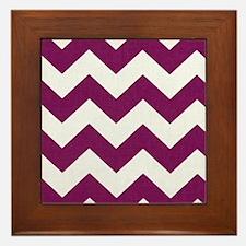 Plum Purple Chevron Framed Tile