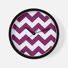 Plum Purple Chevron Wall Clock
