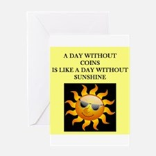 coin collecting Greeting Card
