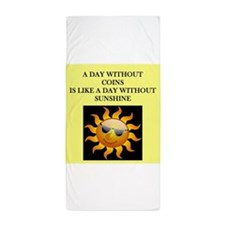 coin collecting Beach Towel