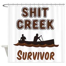 Shit Creek Survivor Shower Curtain