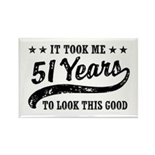 Funny 51st Birthday Rectangle Magnet