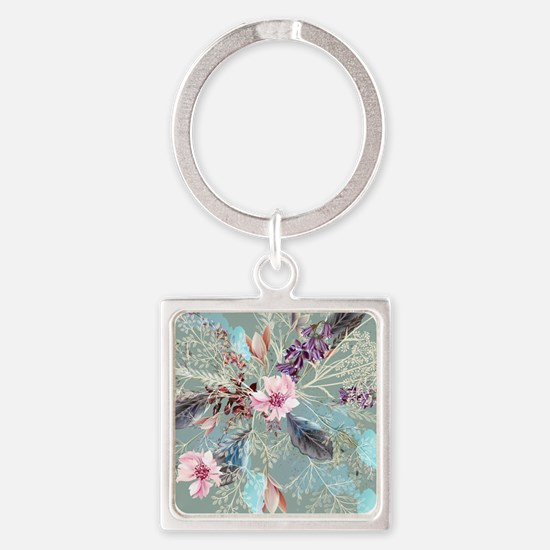 Pink Rose Queen's Anne Lace Floral Keychains