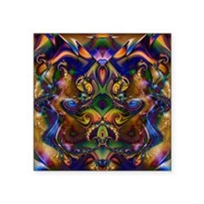 "Fractal 137 Square Sticker 3"" x 3"""