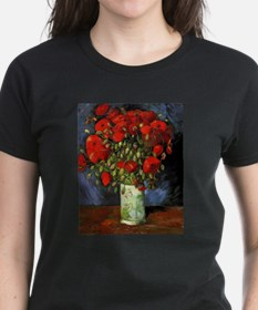 Vase with Red Poppies by Van Gogh T-Shirt