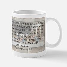 Deuteronomy 8:3 Mug