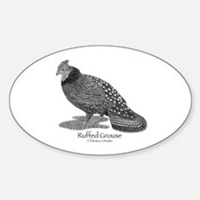 Ruffed Grouse Sticker (Oval)