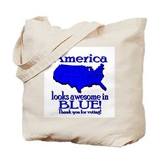 America Looks Awesome in Blue Tote Bag