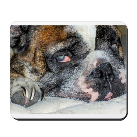 Tired Bulldog Mousepad